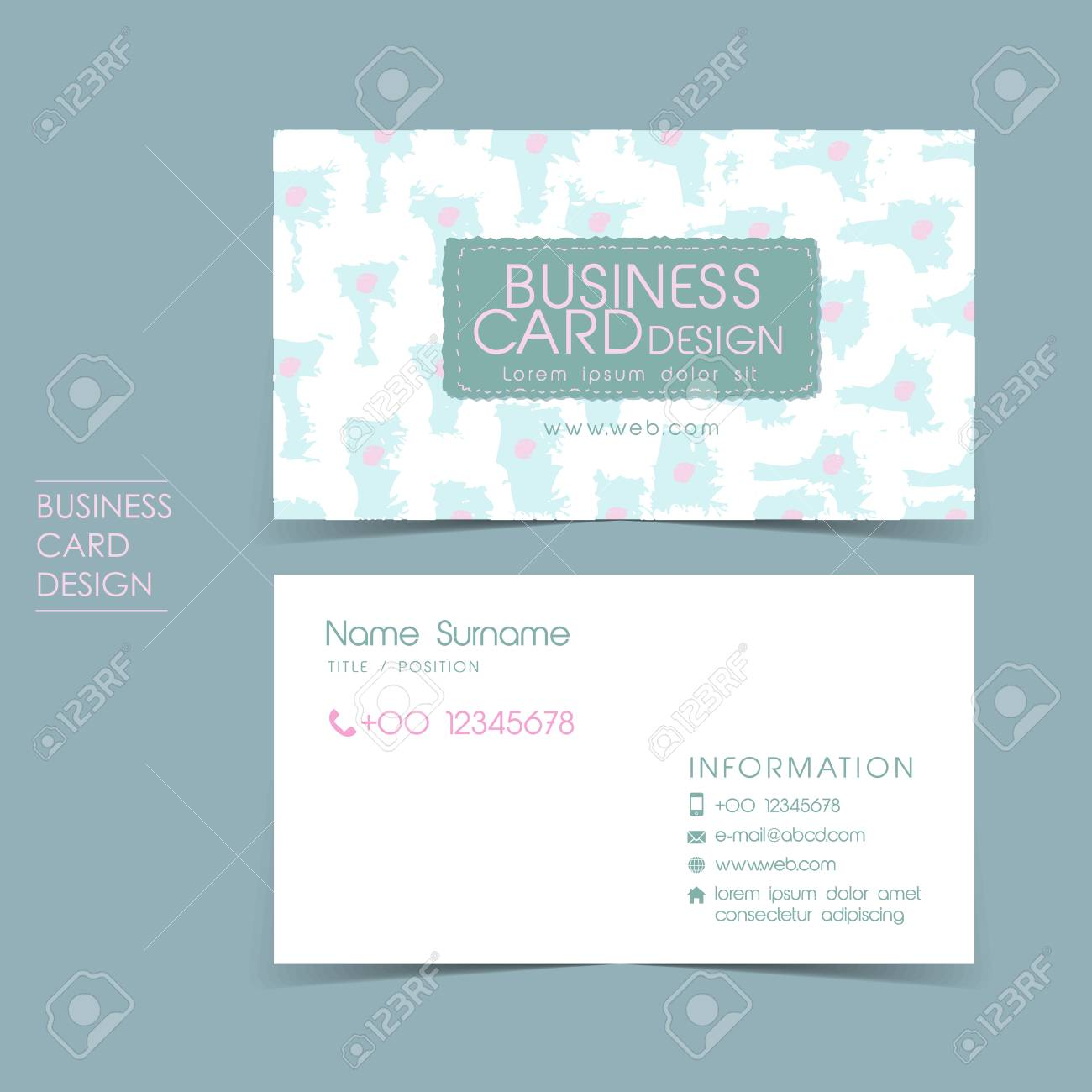 Simple casual vector business card set template design royalty free simple casual vector business card set template design stock vector 29537174 fbccfo Images