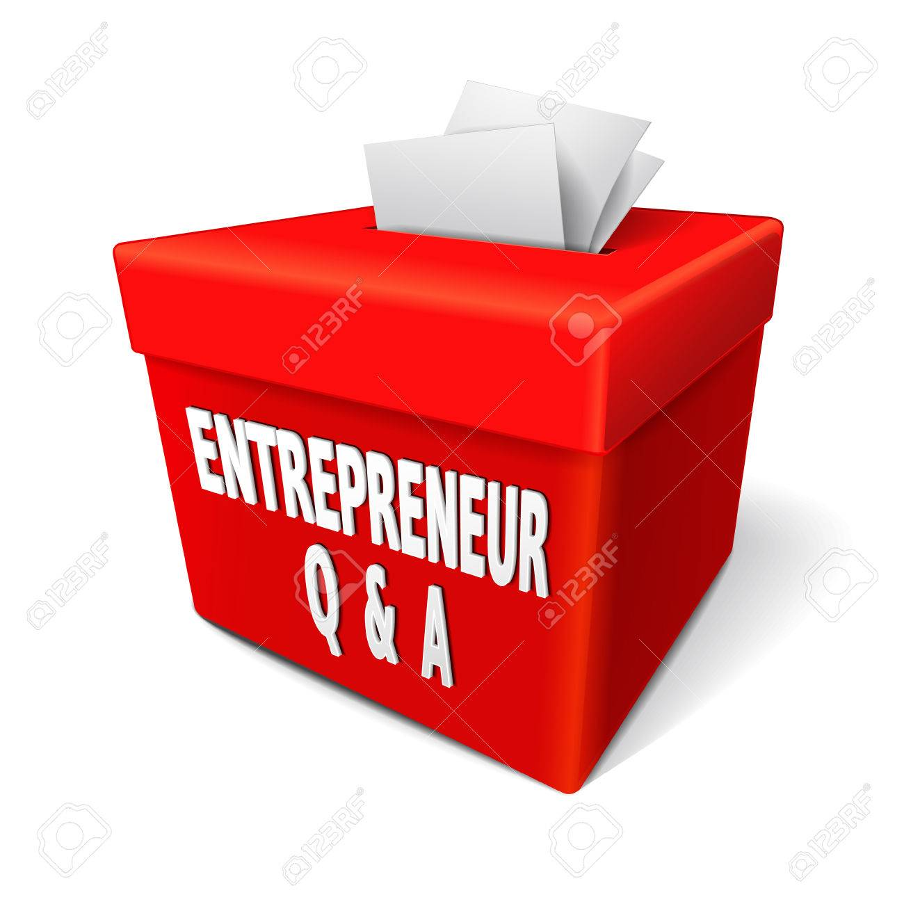 entrepreneur questions and answers words on the red box to get vector entrepreneur questions and answers words on the red box to get information help