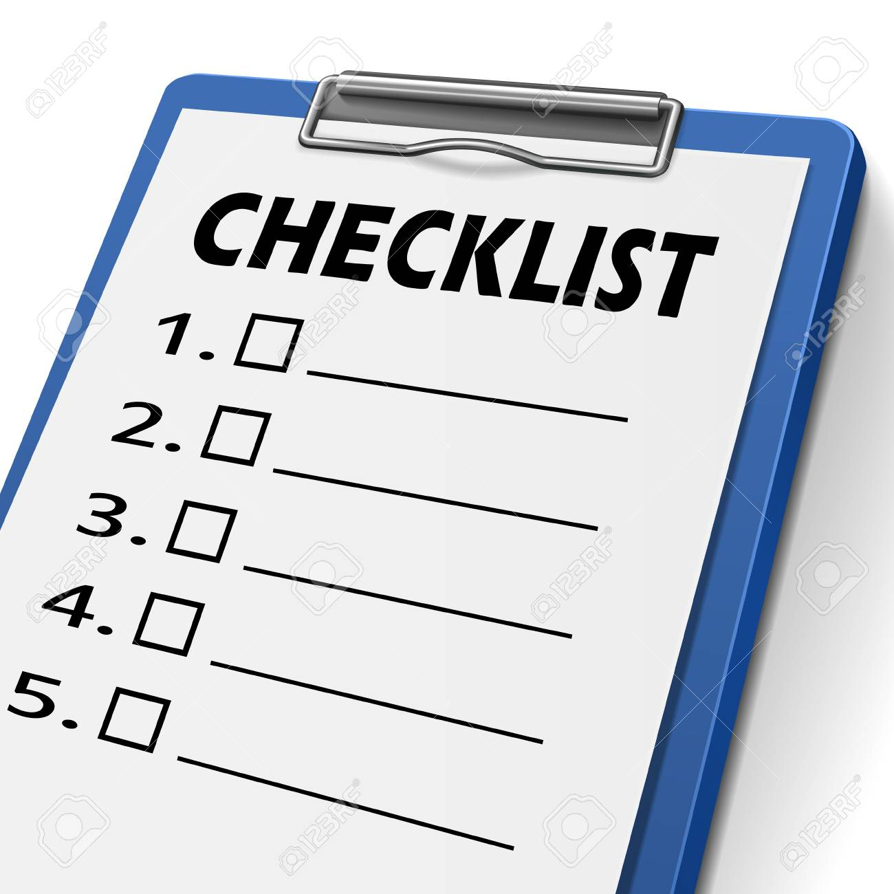 checklist clipboard with check boxes on it stock vector 30917664