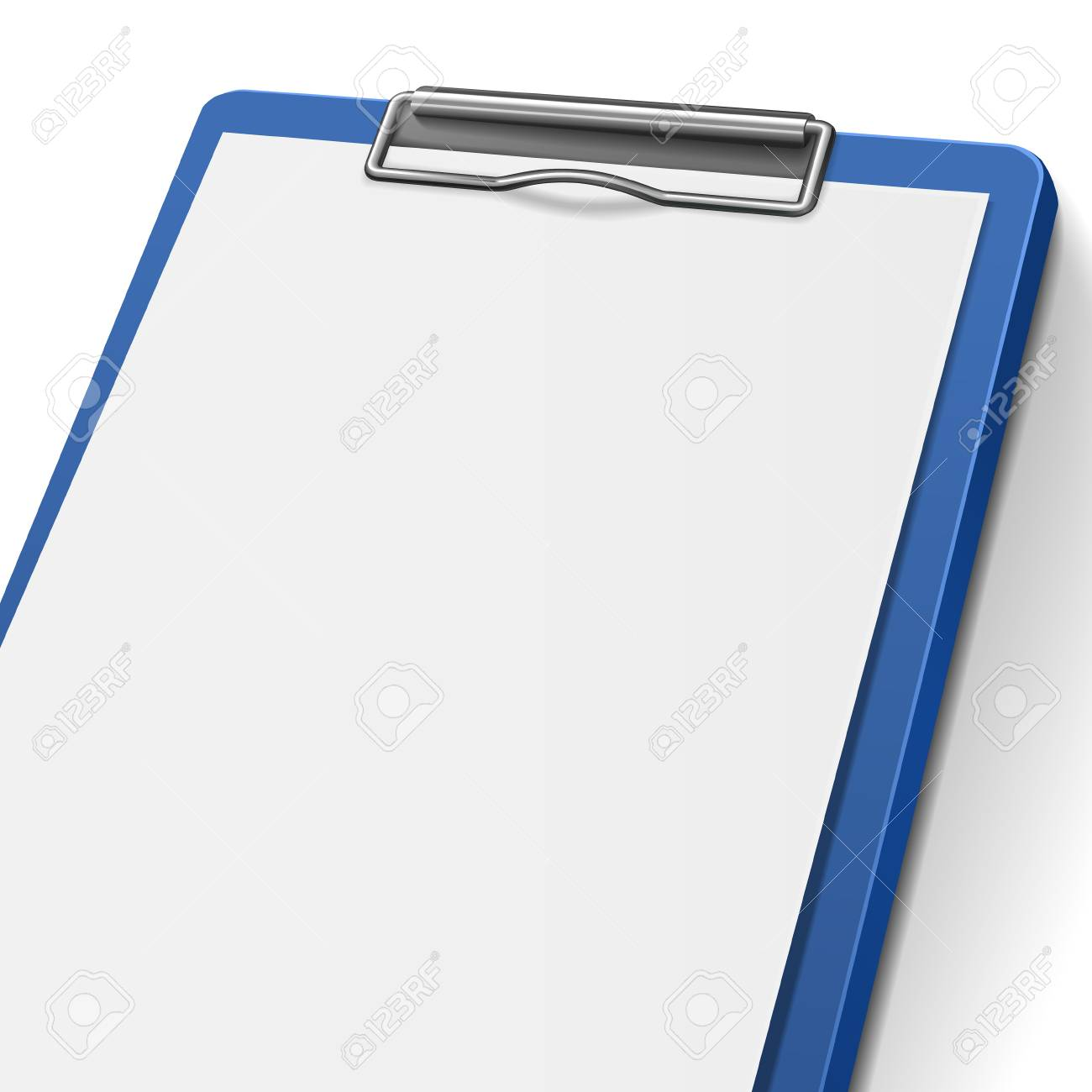 close-up of blank clipboard isolated on white background Stock Vector - 30917745