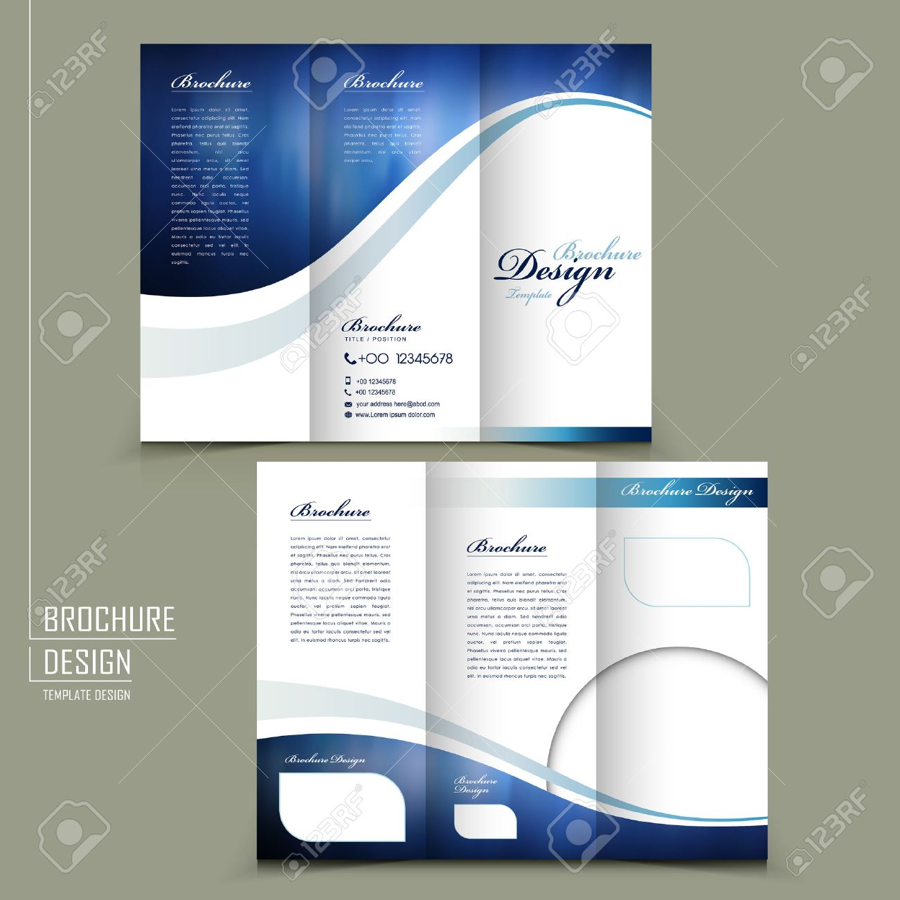 Modern Style Tri-fold Template For Business Advertising Brochure ...