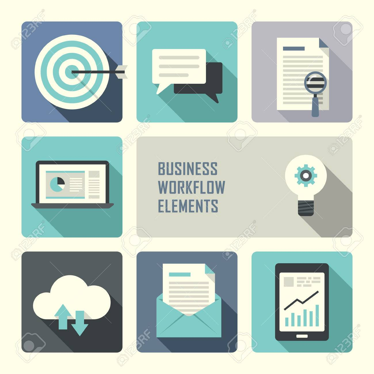 flat design concept for business workflow graphic royalty free