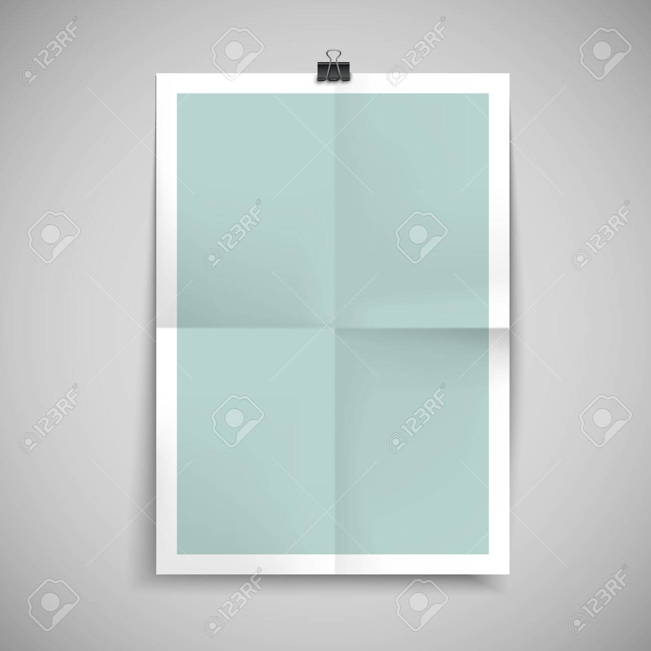 Paper Blank Brochure Template Hanging Over Wall Royalty Free