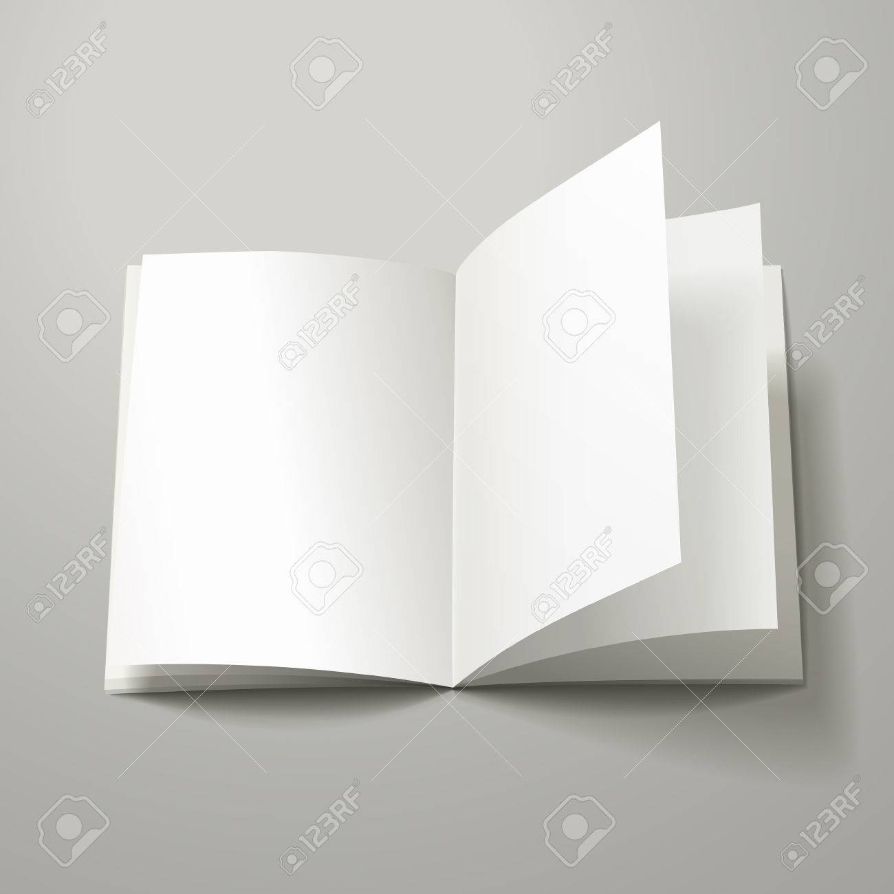 blank open book template isolated on grey background royalty free