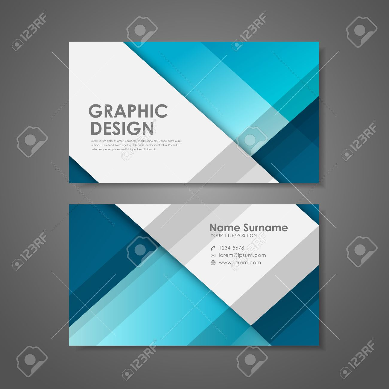 Abstract creative business card template in blue royalty free abstract creative business card template in blue banco de imagens 31845871 accmission Gallery