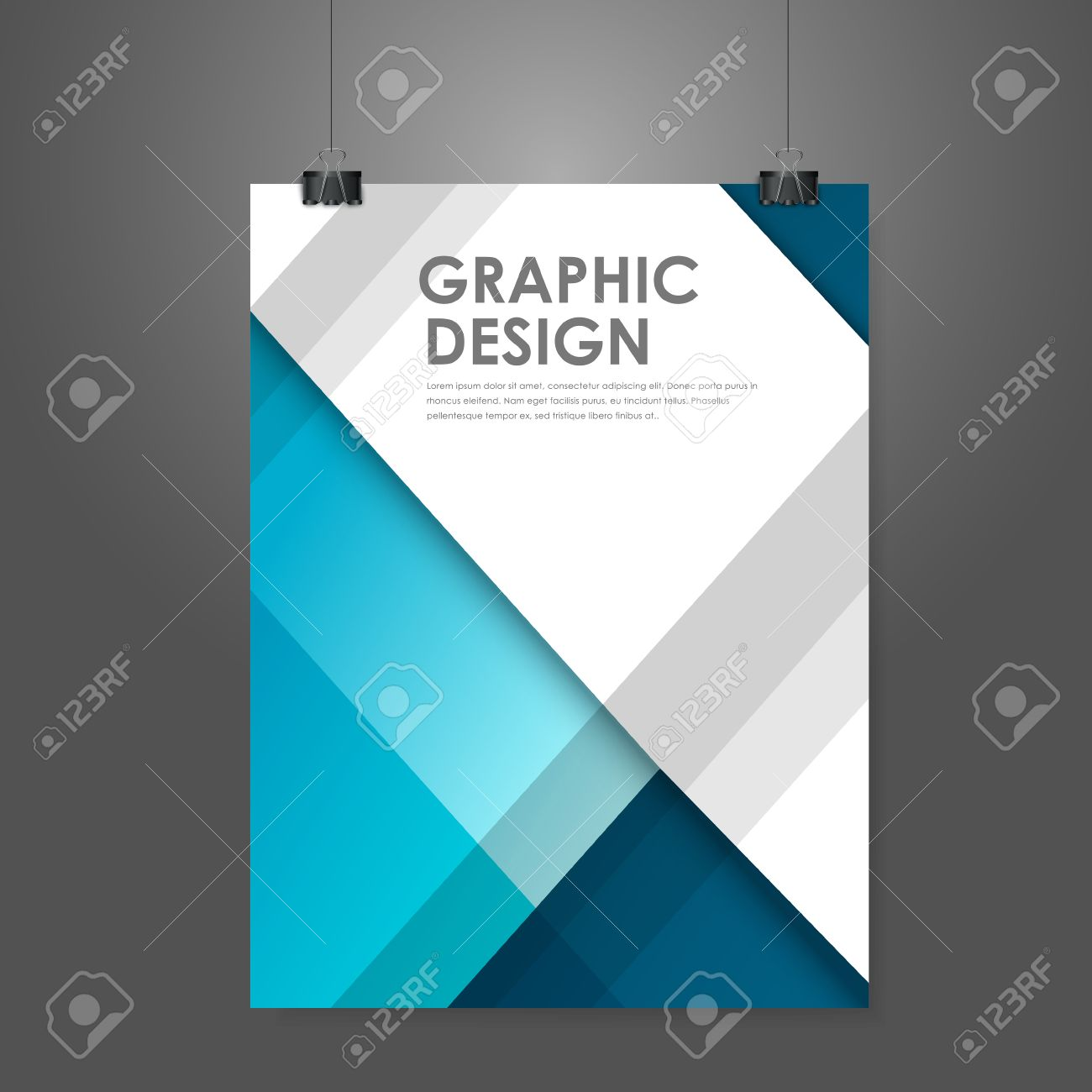 abstract creative business poster template in blue royalty free