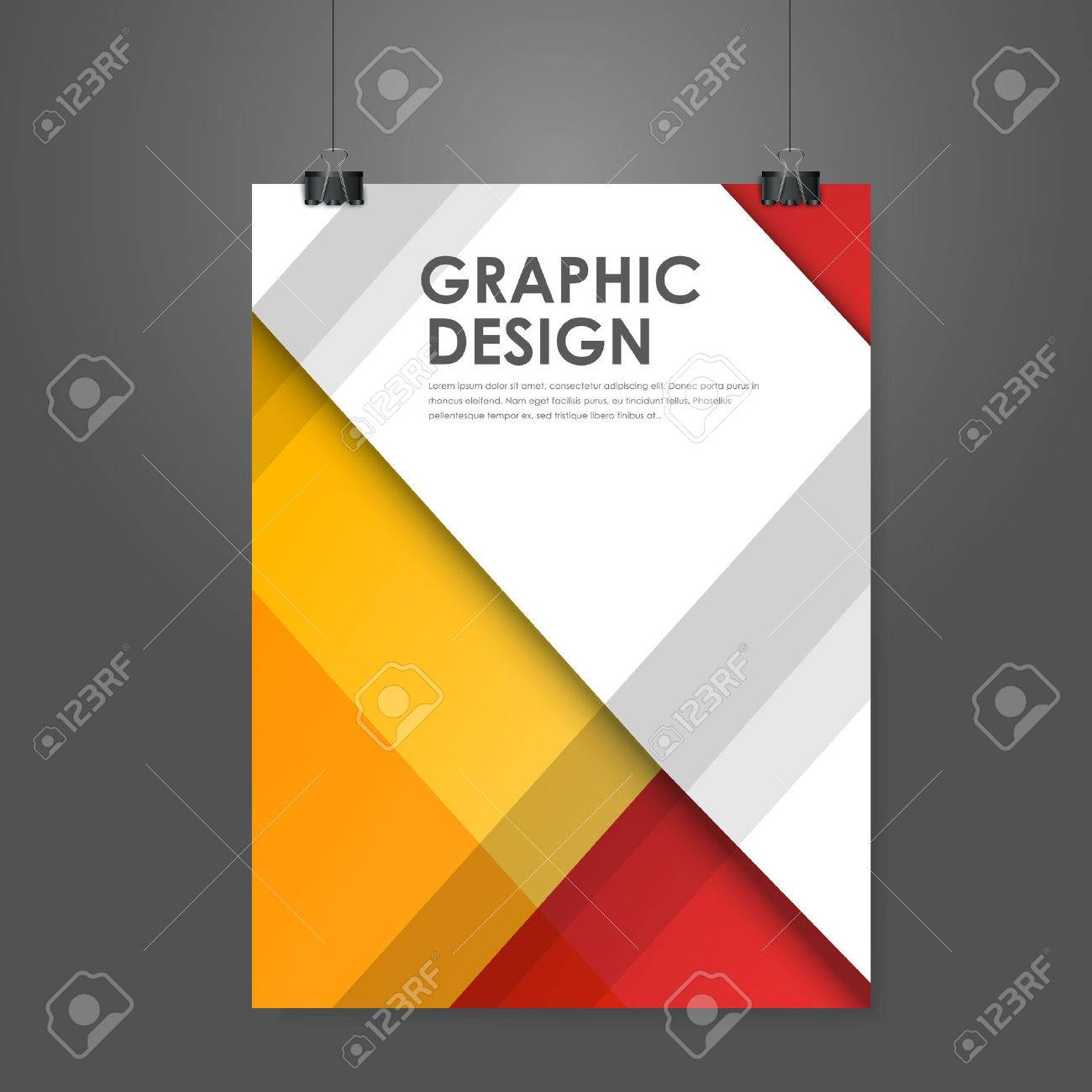 Abstract creative business poster template in red and orange royalty abstract creative business poster template in red and orange stock vector 31845936 wajeb Gallery