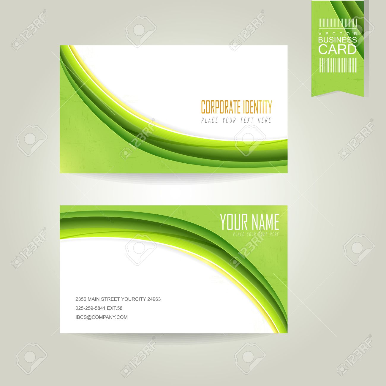 Abstract Ecology Concept Background Business Card Design Template - Business card design template