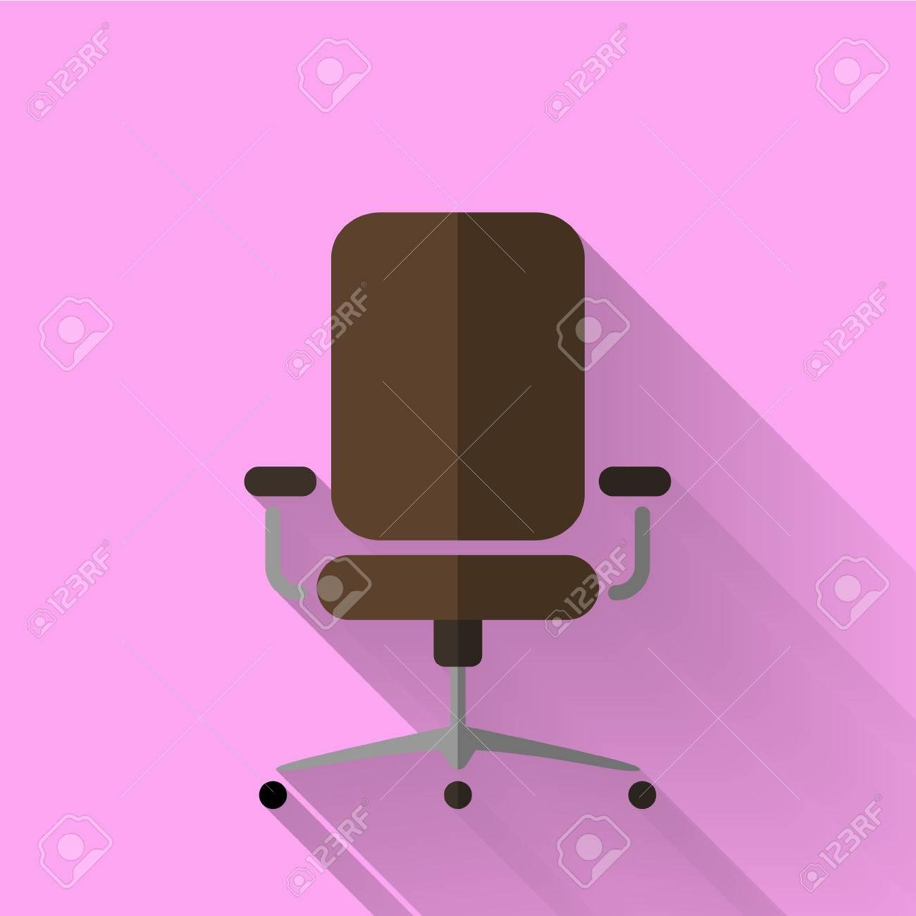 Icône Le De Bureau Plat Coloré Dans Design Style Chaise ybf7gY6