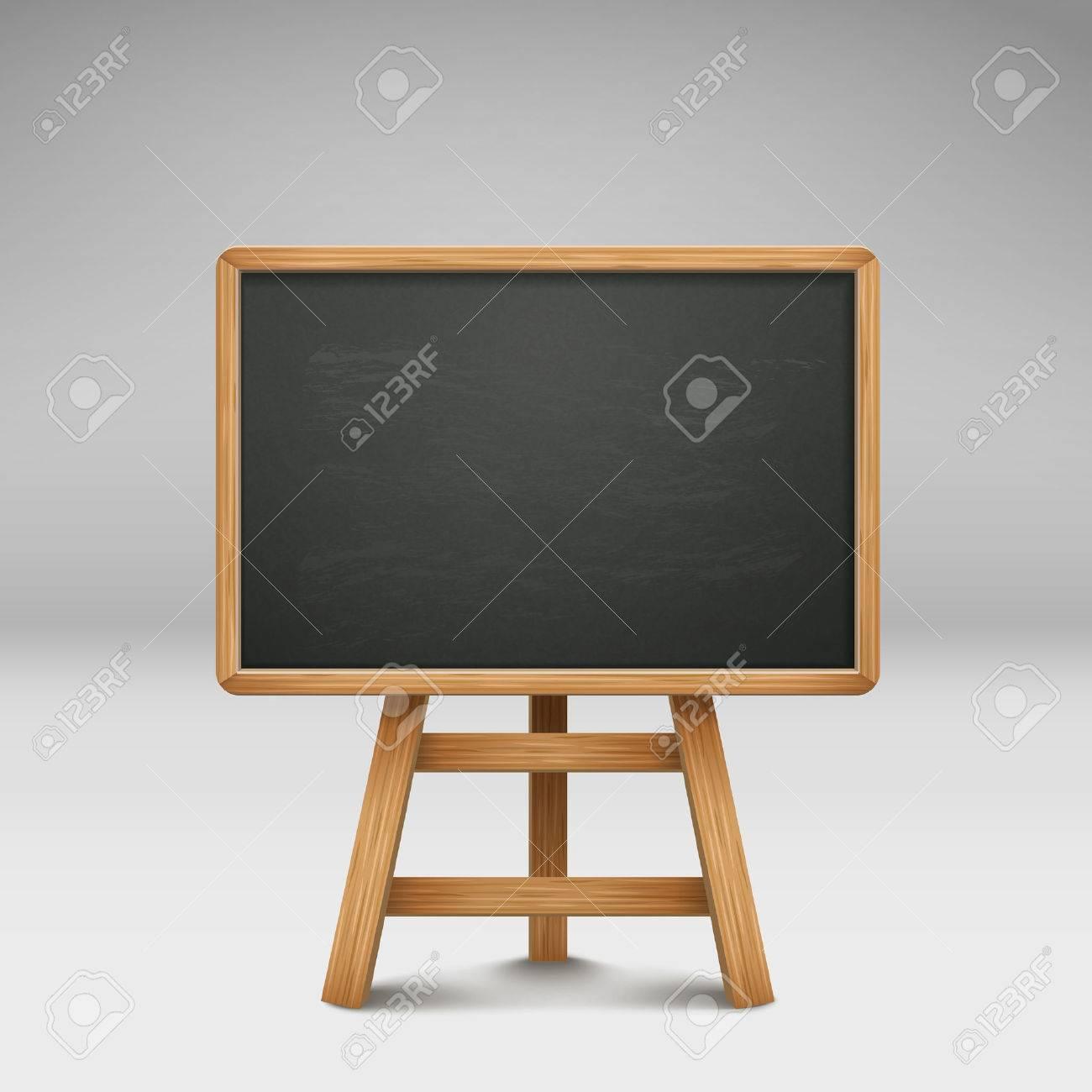 blank blackboard or sandwich board isolated on grey - 32541370