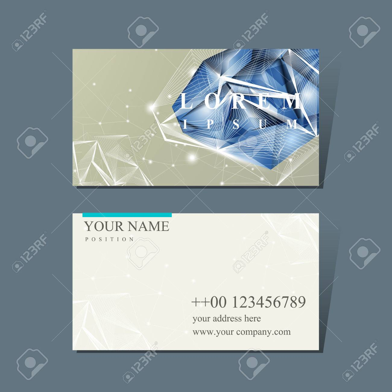 Design for business cards gallery free business cards modern design for business card with diamond element royalty free modern design for business card with magicingreecefo Choice Image