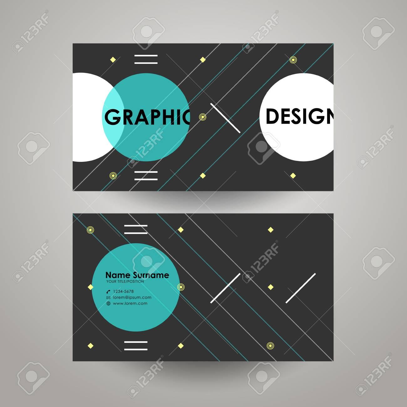 Plantilla De Diseño Moderno Geométrico Para Tarjetas De Visita ...