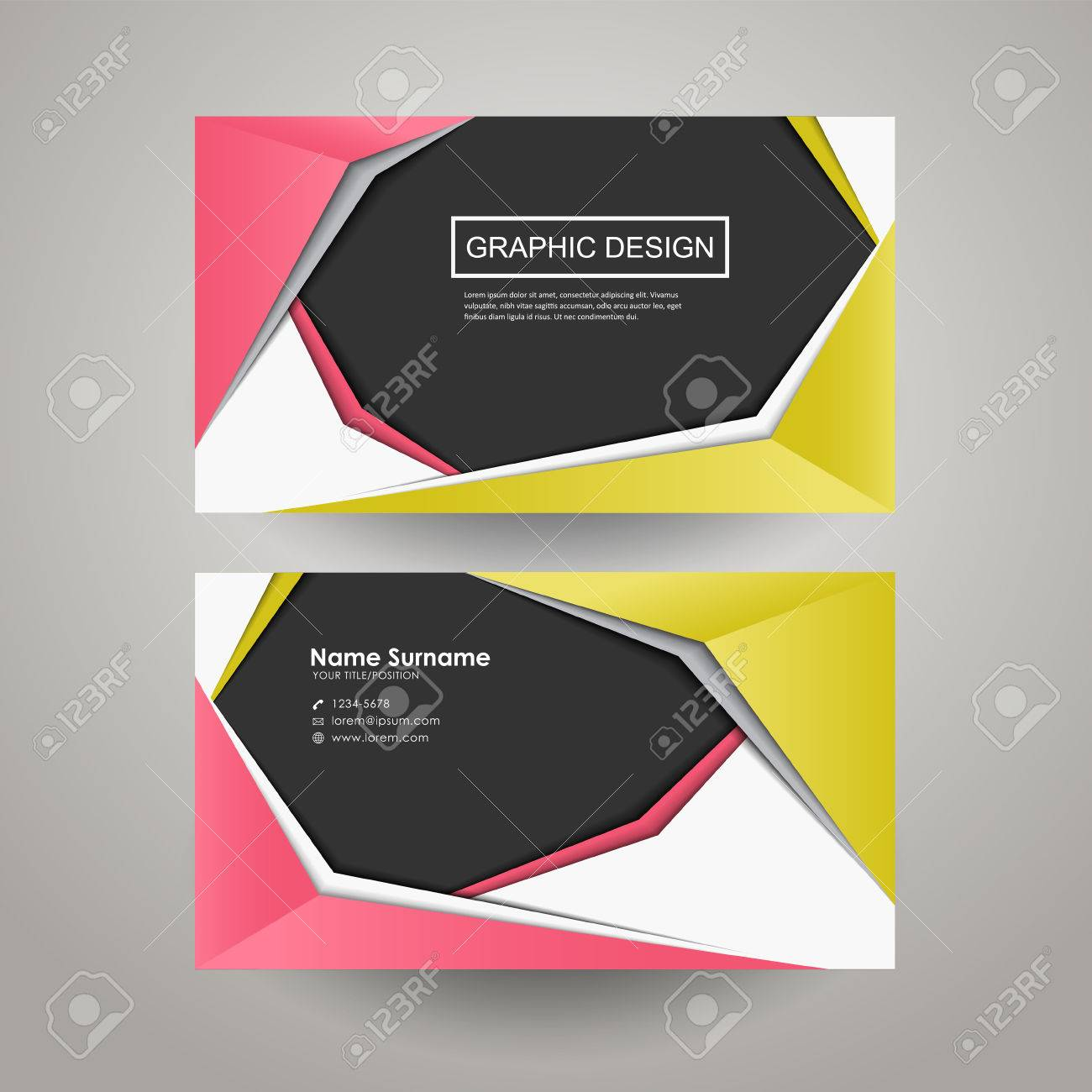 Modern paper style design for business card template royalty free modern paper style design for business card template stock vector 32856318 colourmoves