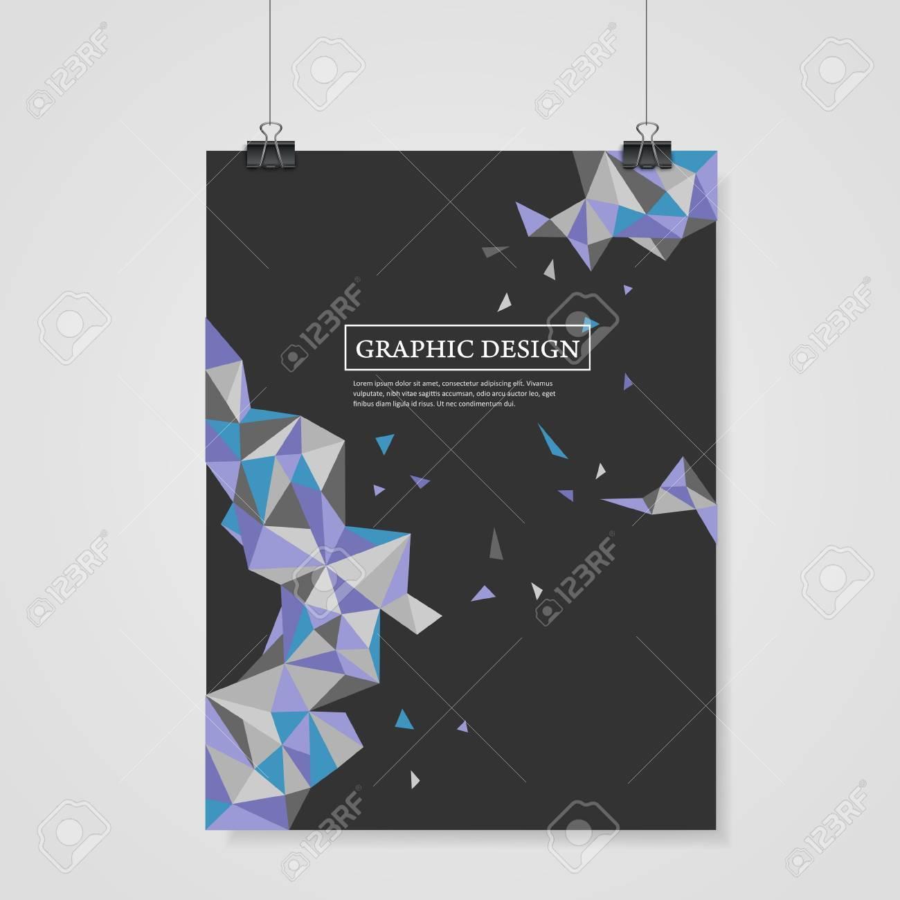Geométrico Diseño Triángulos Coloridos Abstracto Para La Plantilla ...