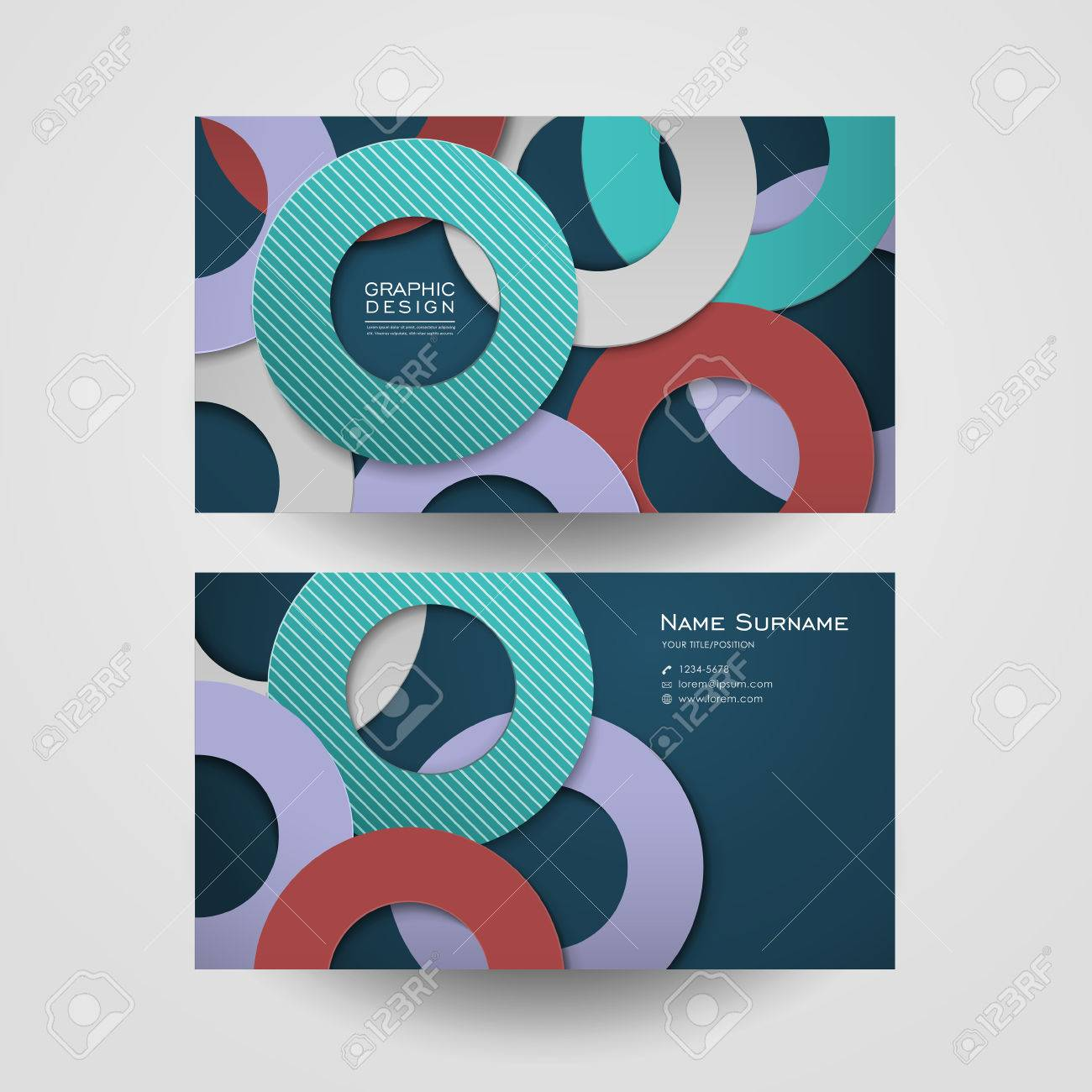 Colorful circle layout design for business card template royalty colorful circle layout design for business card template stock vector 32856479 flashek Images