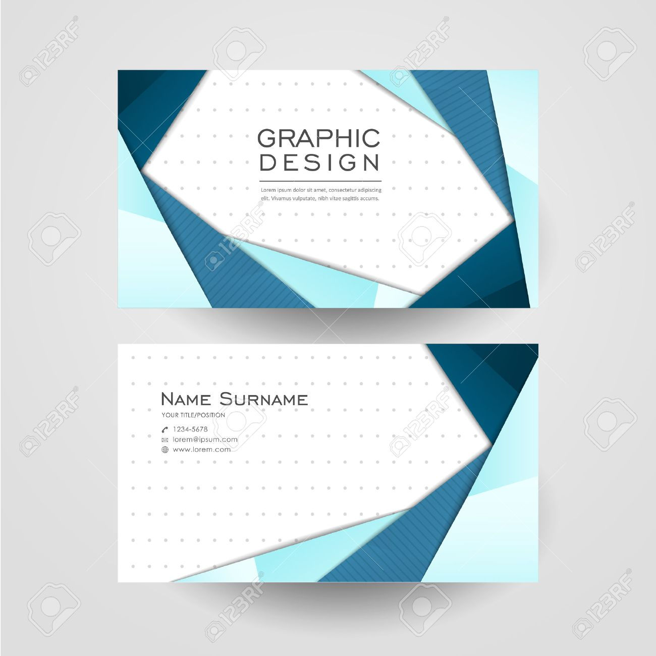 Modern origami style design for business card in blue royalty free modern origami style design for business card in blue stock vector 32856505 jeuxipadfo Gallery