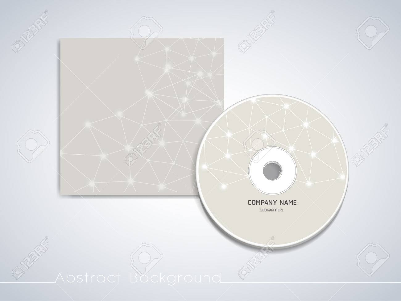 Cd Cover Template | Soft Geometric Background Design For Cd Cover Template Royalty Free