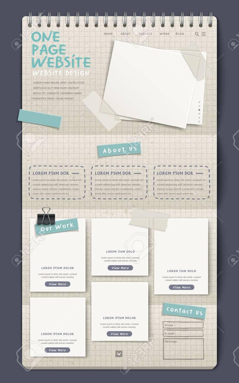 3d notebook style one page website design template royalty free 3d notebook style one page website design template stock vector 33149454 maxwellsz