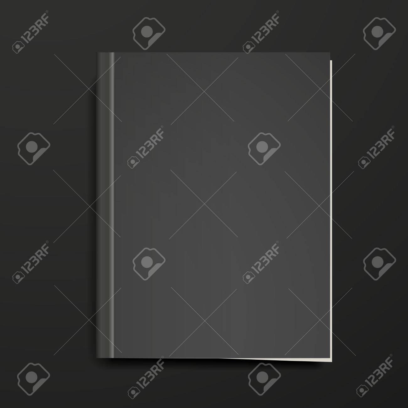 Couverture Du Livre Blanc Isole Sur Fond Noir
