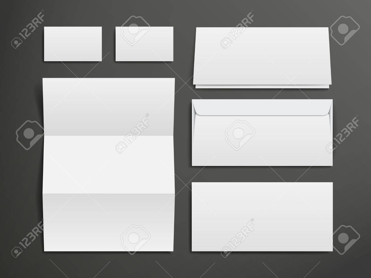 Blank envelopes business card and folder over black background blank envelopes business card and folder over black background stock vector 33567719 reheart Choice Image