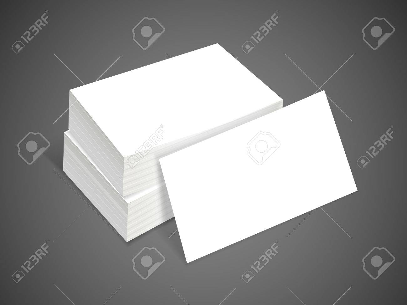 Blank Business Card Isolated On Black Background Royalty Free ...