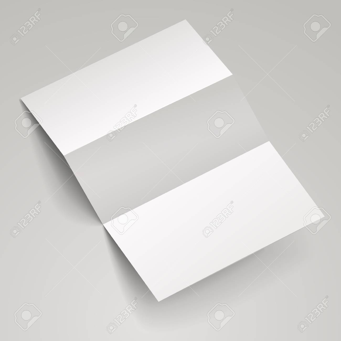 blank tri fold brochure template over white background stock vector 33749533 - Blank Tri Fold Brochure Template