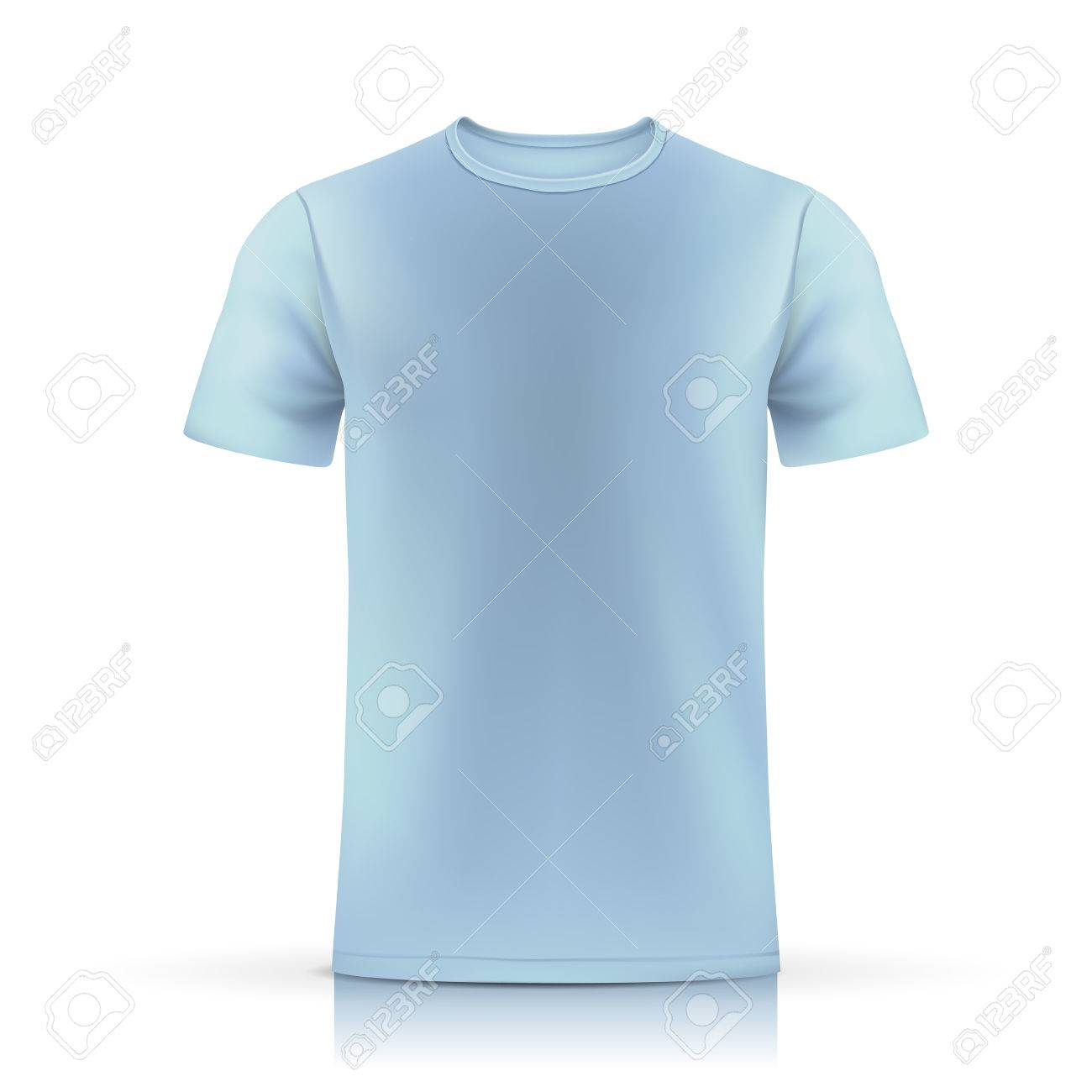 Light Blue T Shirt Template Isolated On White Background