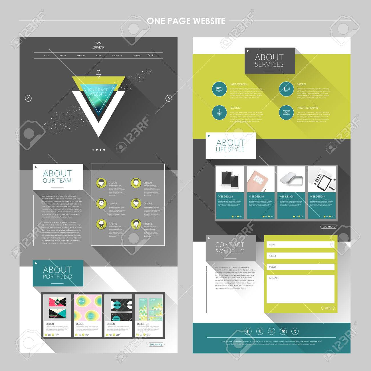 Delighted 2 Page Resume Template Word Tiny 2014 Sample Resume Templates Square 2015 Calendar Template 2015 Printable Calendar Template Youthful 3d Character Modeler Resume Green3d Powerpoint Presentation Templates Modern Geometric One Page Website Template With Long Shadows ..