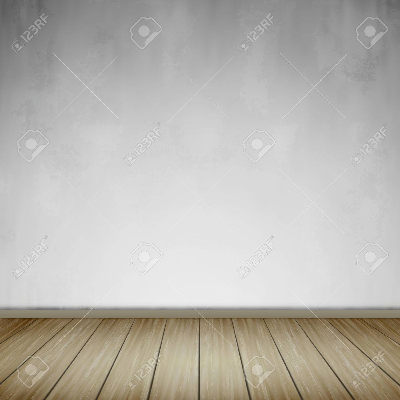interior scene with empty wall and wooden floor in retro style stock vector
