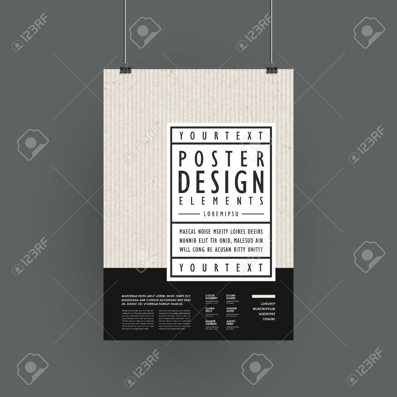 modern poster template design in simplicity style royalty free