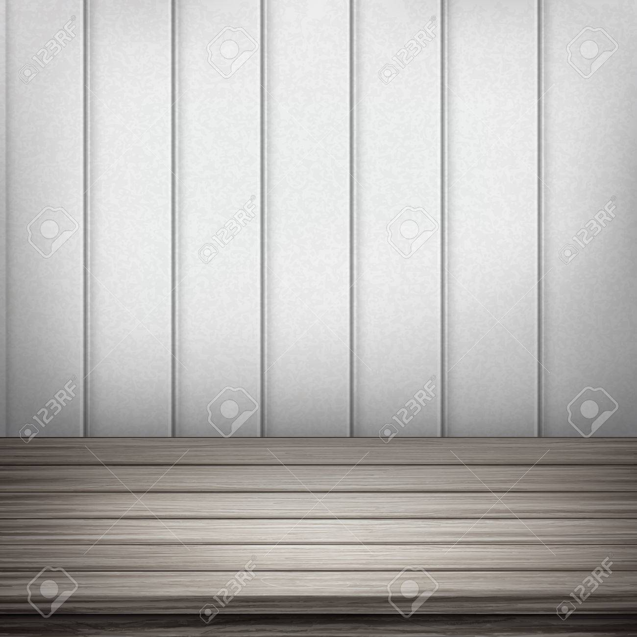 Interior wooden shelves free vector - Close Up Look At Empty Interior Wooden Wall And Floor Stock Vector 35166226