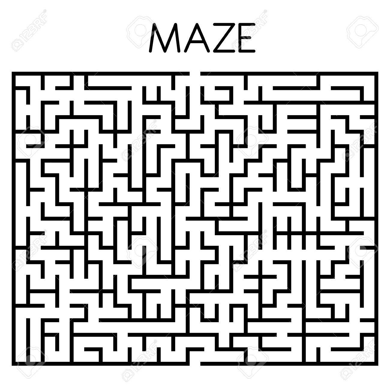 maze game illustration isolated on white background royalty free