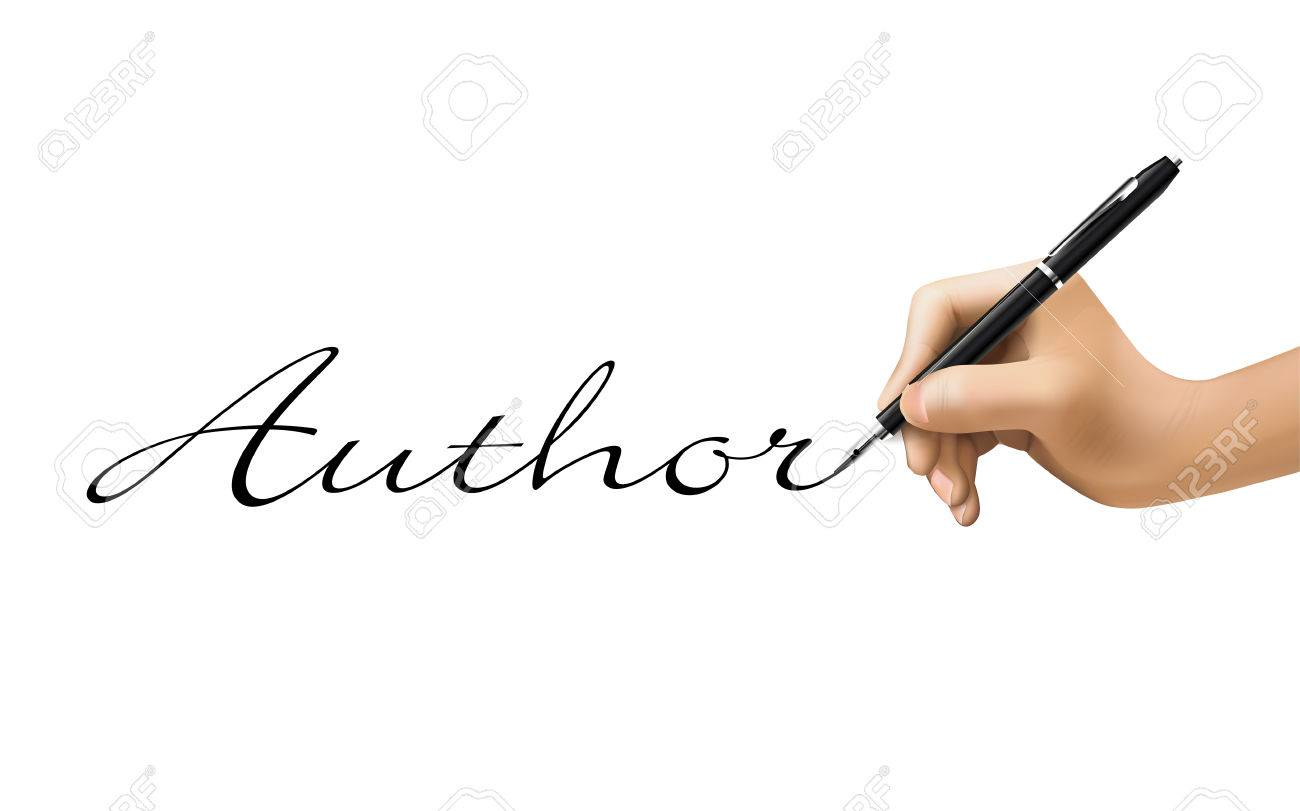 Author Word Written By 3d Hand Over White Royalty Free Cliparts, Vectors,  And Stock Illustration. Image 35977567.