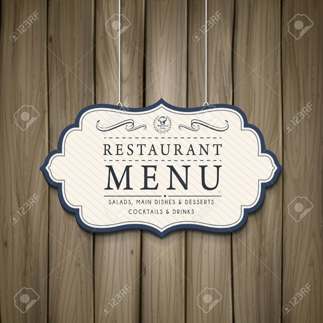 Elegant Restaurant Menu Design In Wooden Style Royalty Free Cliparts Vectors And Stock Illustration Image 37172702