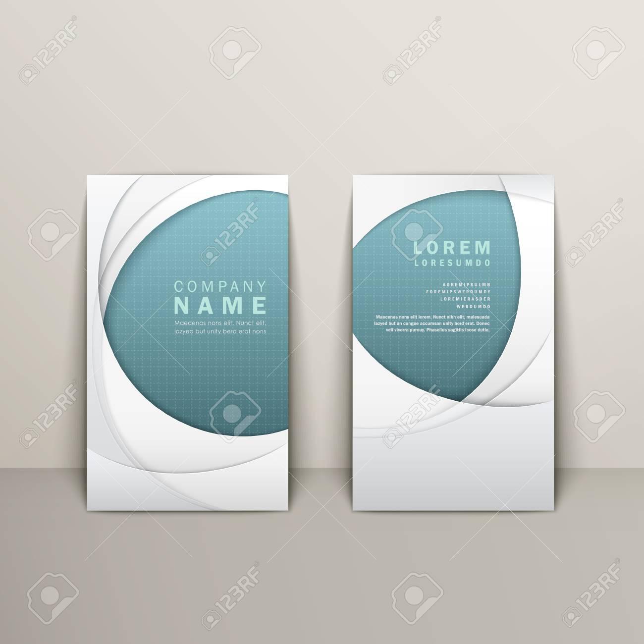 Carte De Visite Avec Un Design Elegant Larc En Bleu Et Blanc