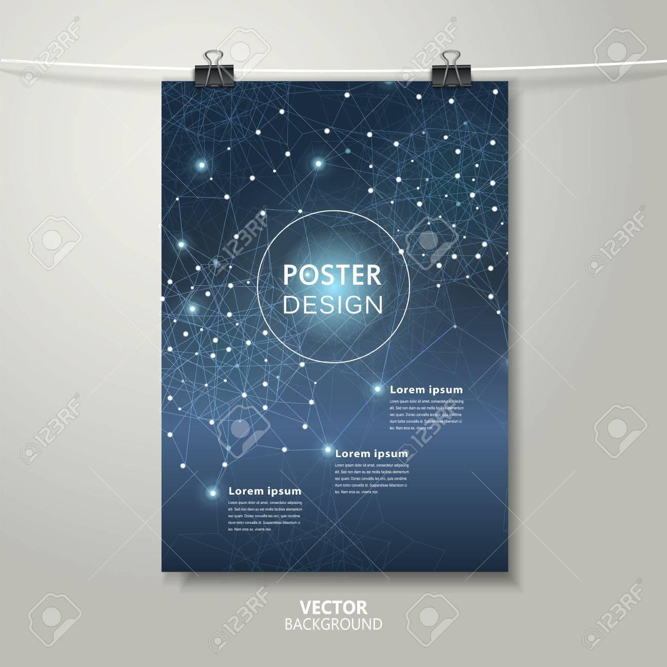 Diseño Romántico Plantilla Cartel Con Estrellas Del Brillo Y ...