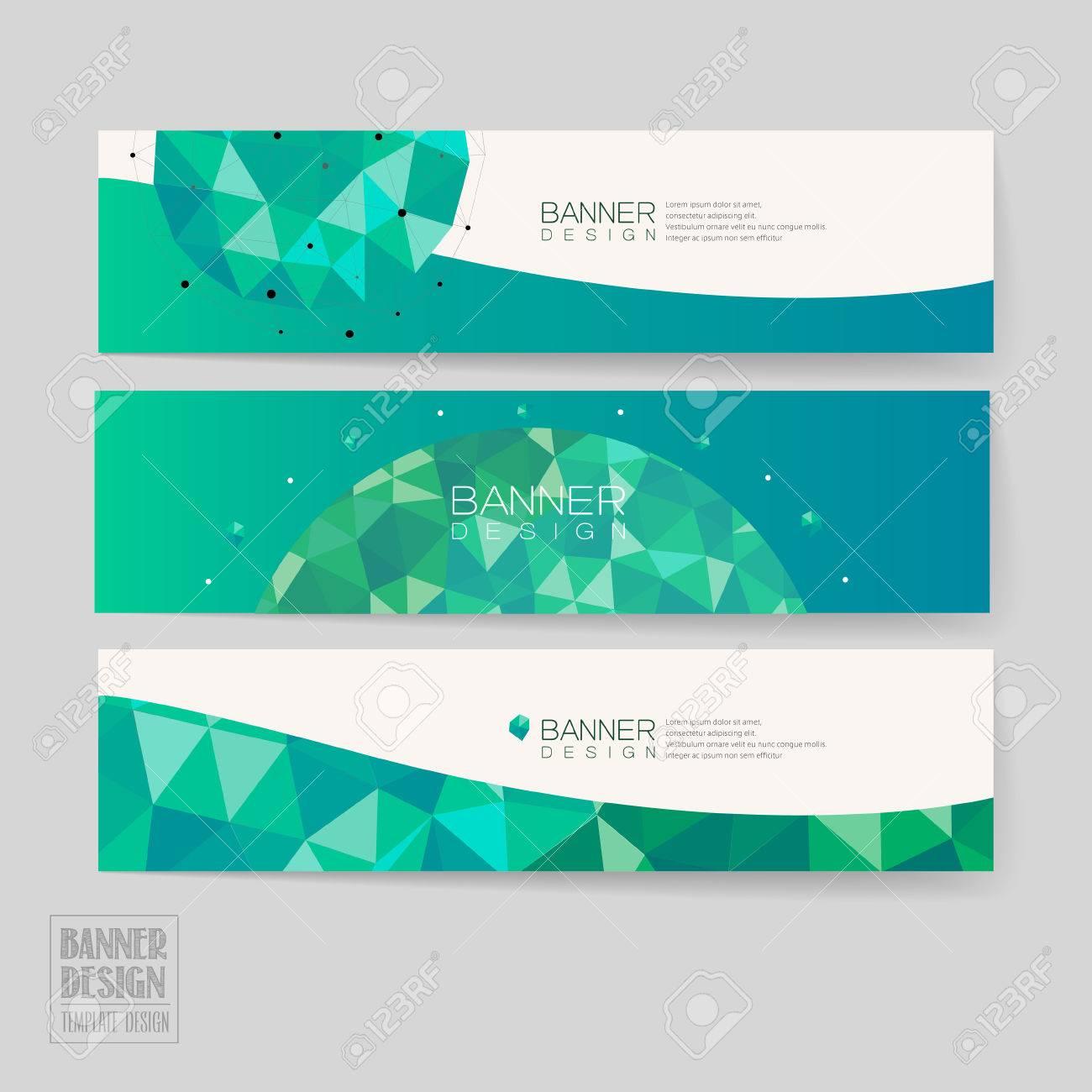 Simplicidad De Diseño De Plantilla Banner Con Motivos Geométricos En ...