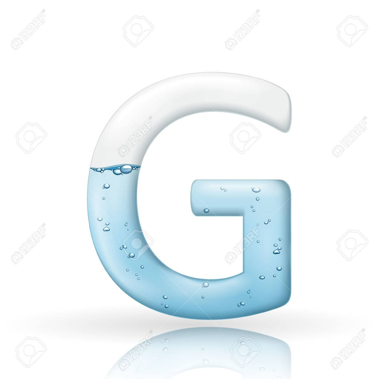3d clean water letter g isolated on white background royalty free 3d clean water letter g isolated on white background stock vector 38534151 thecheapjerseys Images