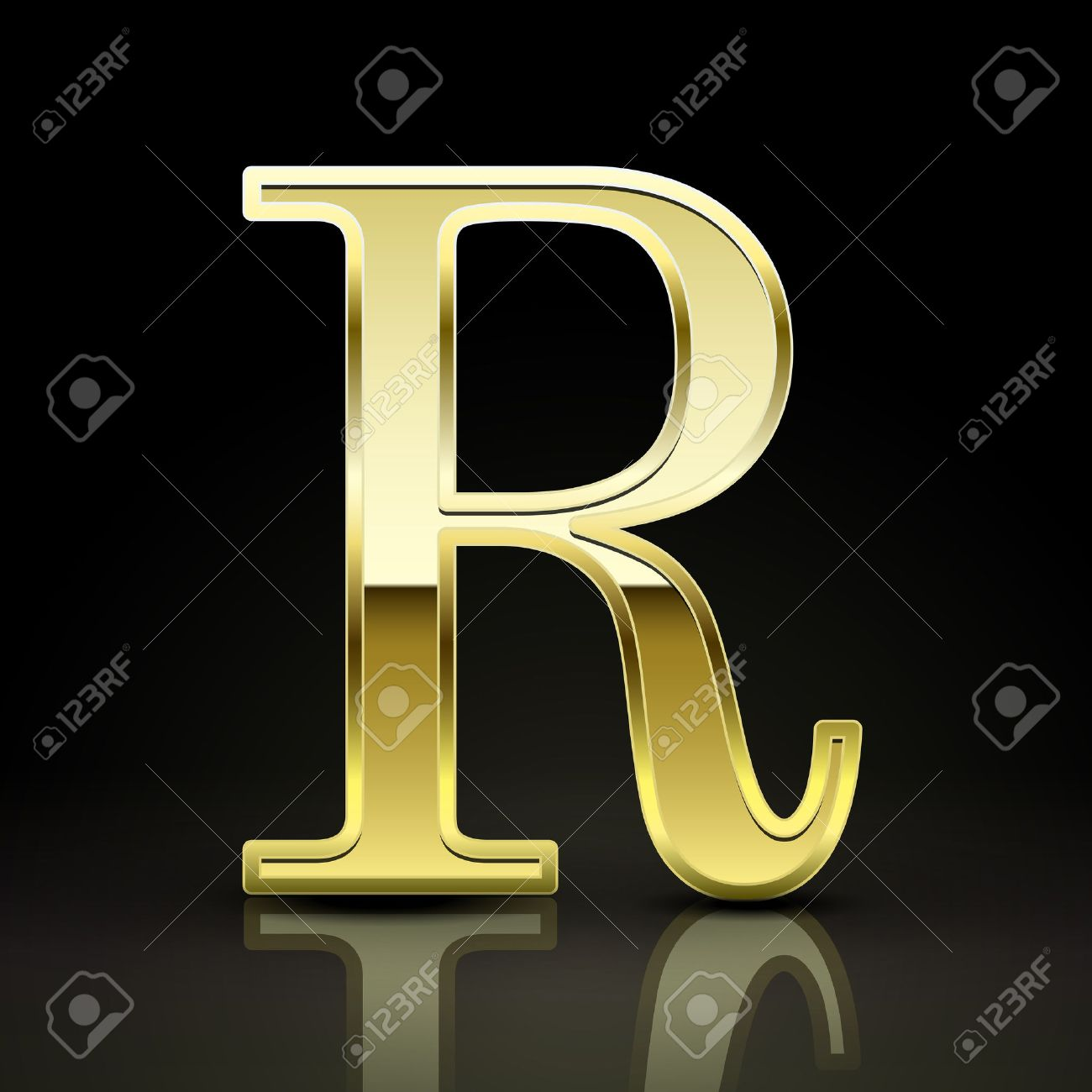3d Elegant Golden Letter R Isolated On Black Background Royalty Free Cliparts Vectors And Stock Illustration Image 38549829