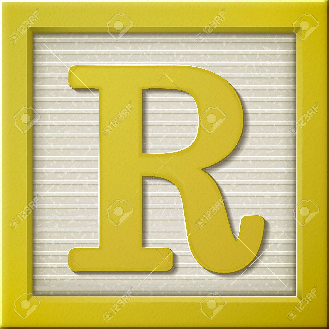 Close Up Look At 3d Yellow Letter Block R Royalty Free Cliparts Vectors And Stock Illustration Image 38556454