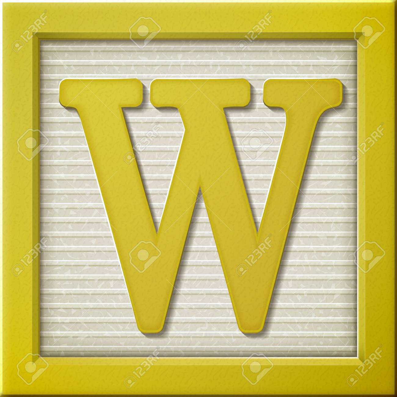 Close Up Look At D Yellow Letter Block W Royalty Free Cliparts