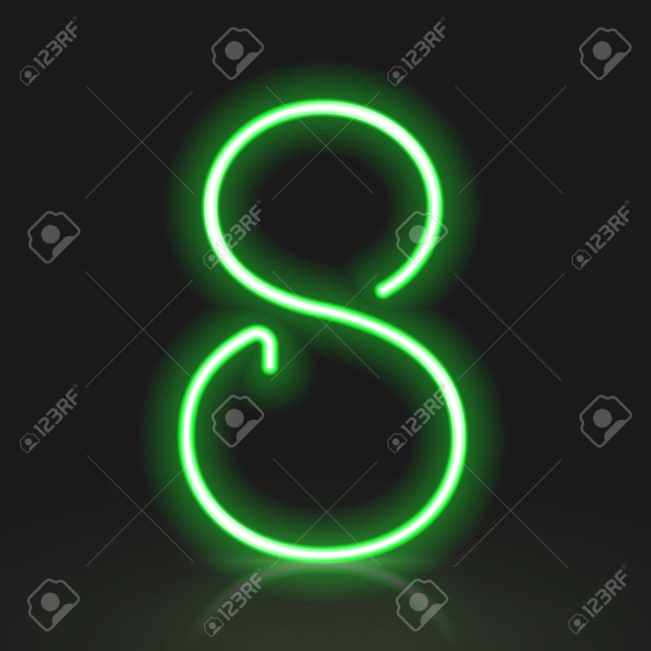 Clipart - Neon Numerals-8