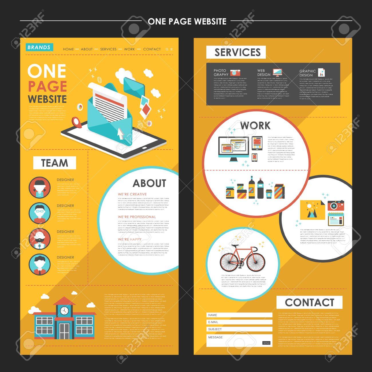 Une Page Attrayante Conception Modèle De Site Web Avec Des éléments ...