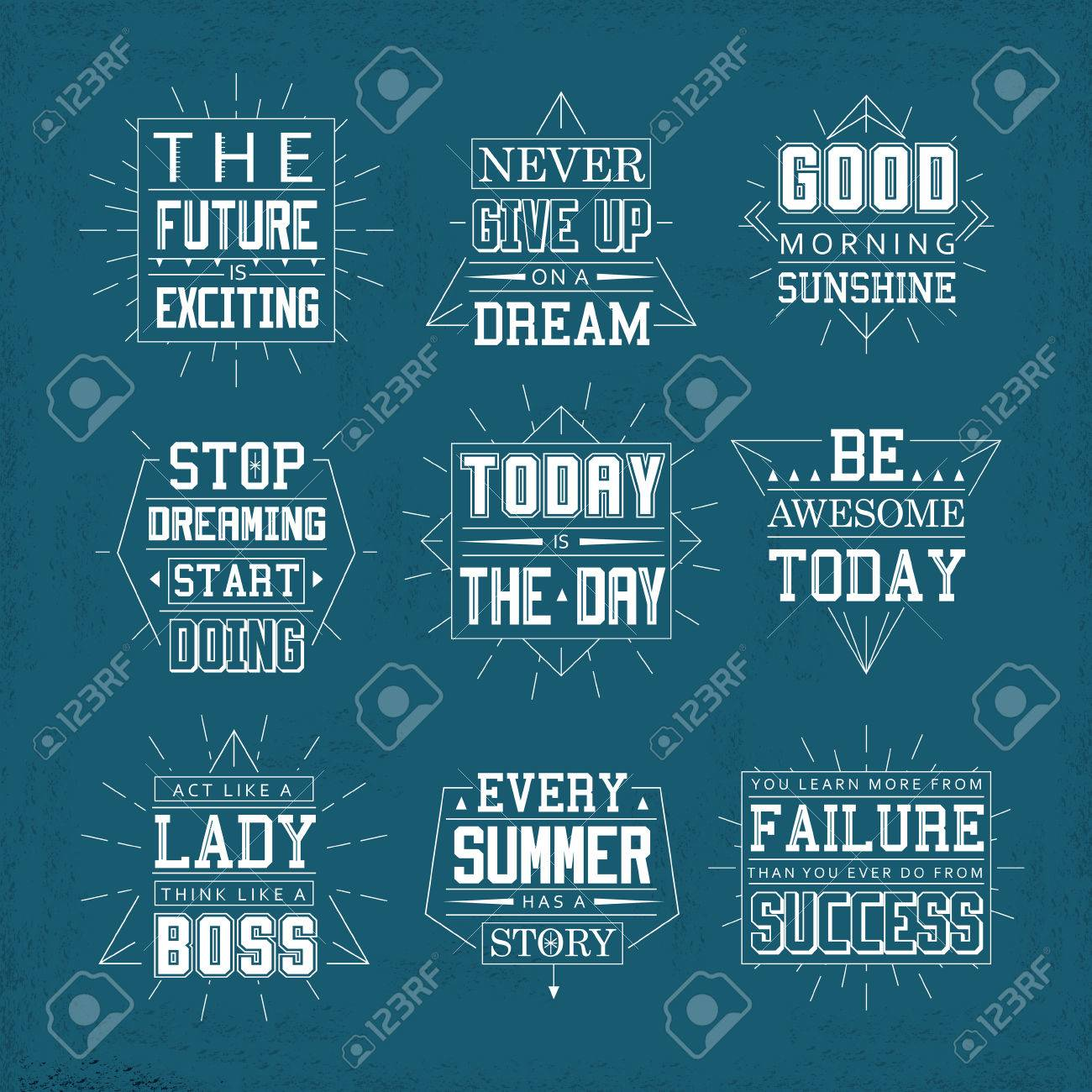 Free Life Quotes Life Quotes Set Isolated On Blue Background Royalty Free Cliparts