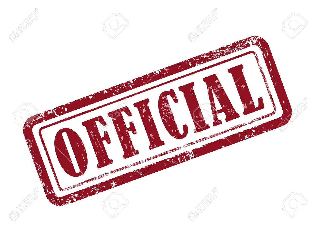 stamp official in red over white background royalty free cliparts