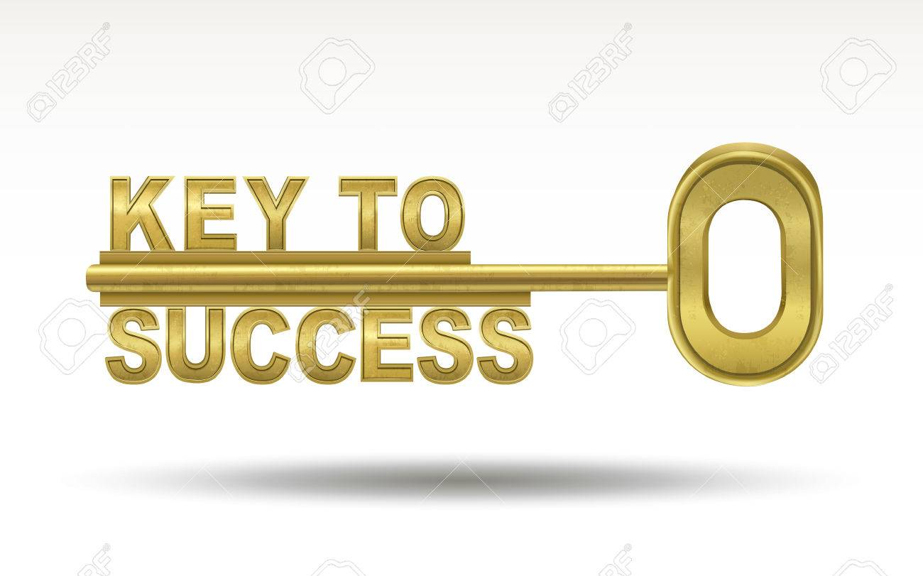 key to success - golden key isolated on white background - 40380746