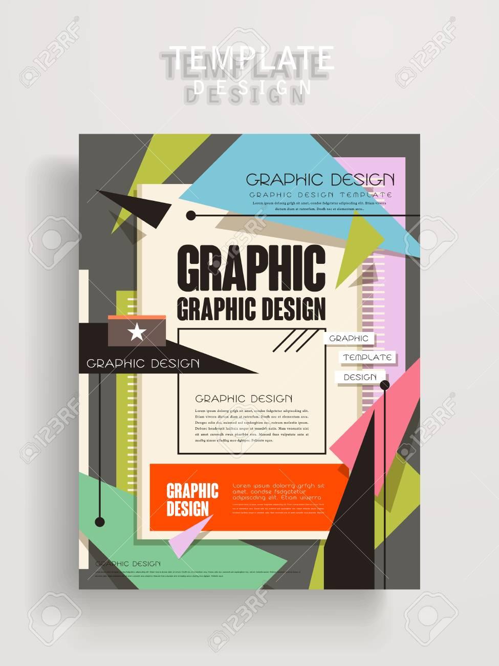 Diseño De La Plantilla Cartel Precioso Con Elementos Geométricos De ...