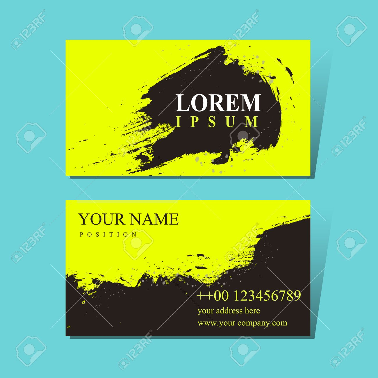 Attractive Business Card Design Template With Chinese Calligraphy ...