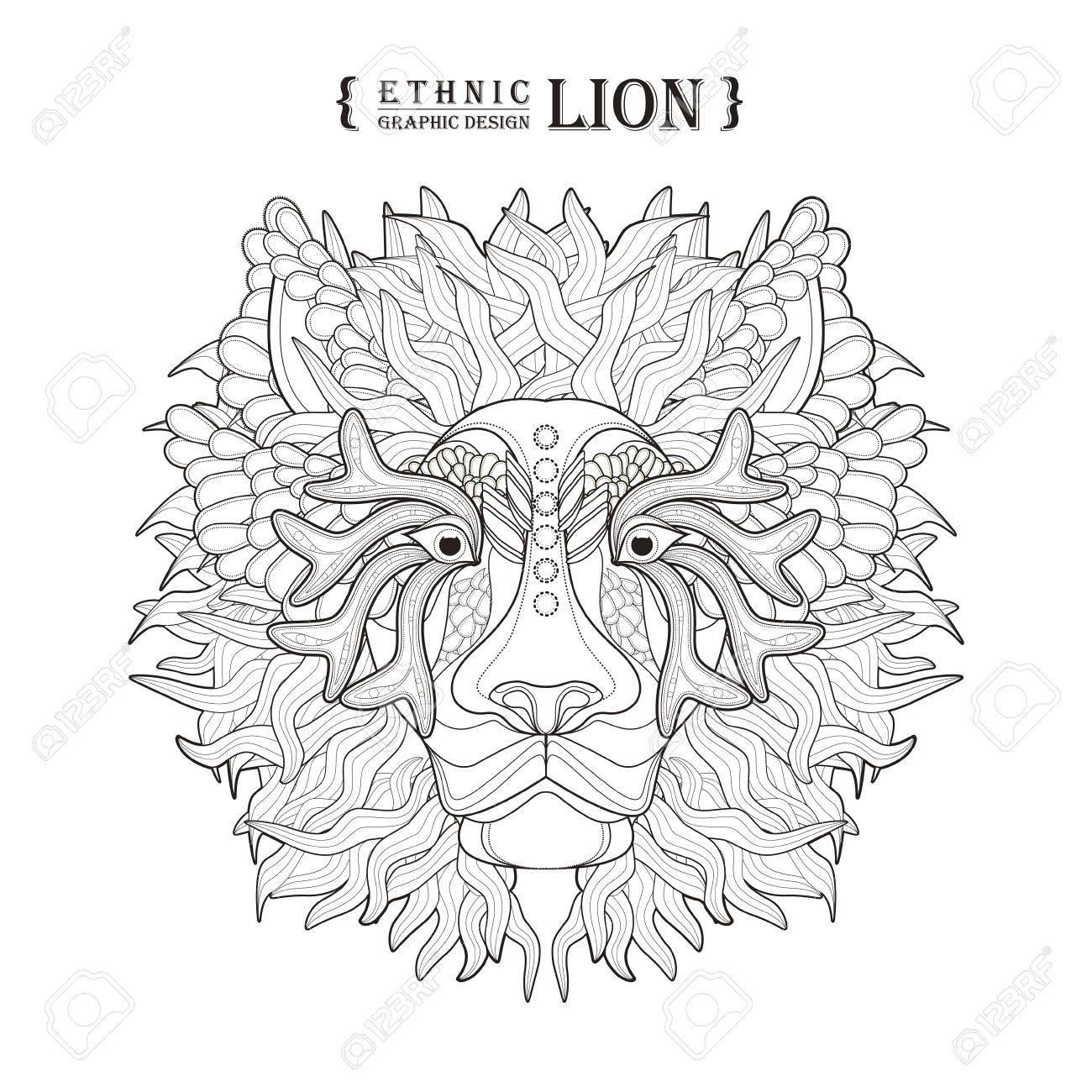 Hermosa Página Para Colorear De León De Montaña Viñeta - Dibujos ...