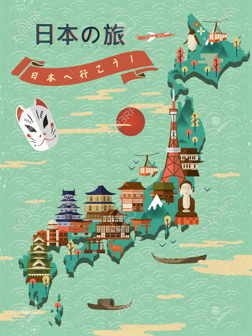 Lovely Japan Travel Map - Japan Travel And Go To Japan In Japanese ...
